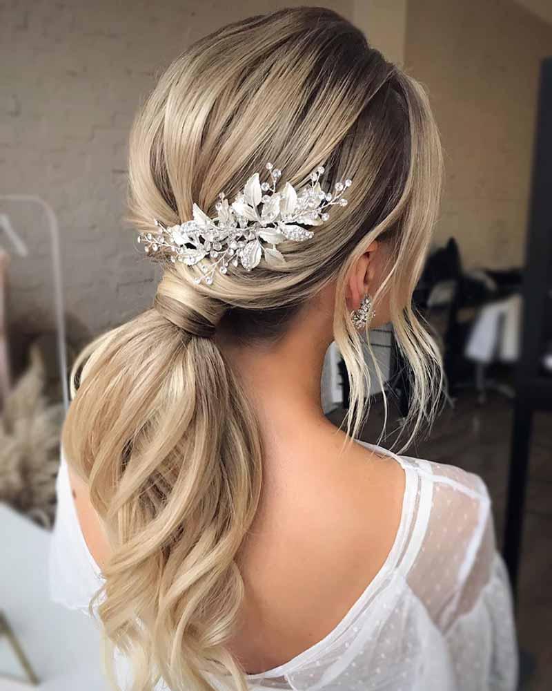 Peinados de novia sencillos coda