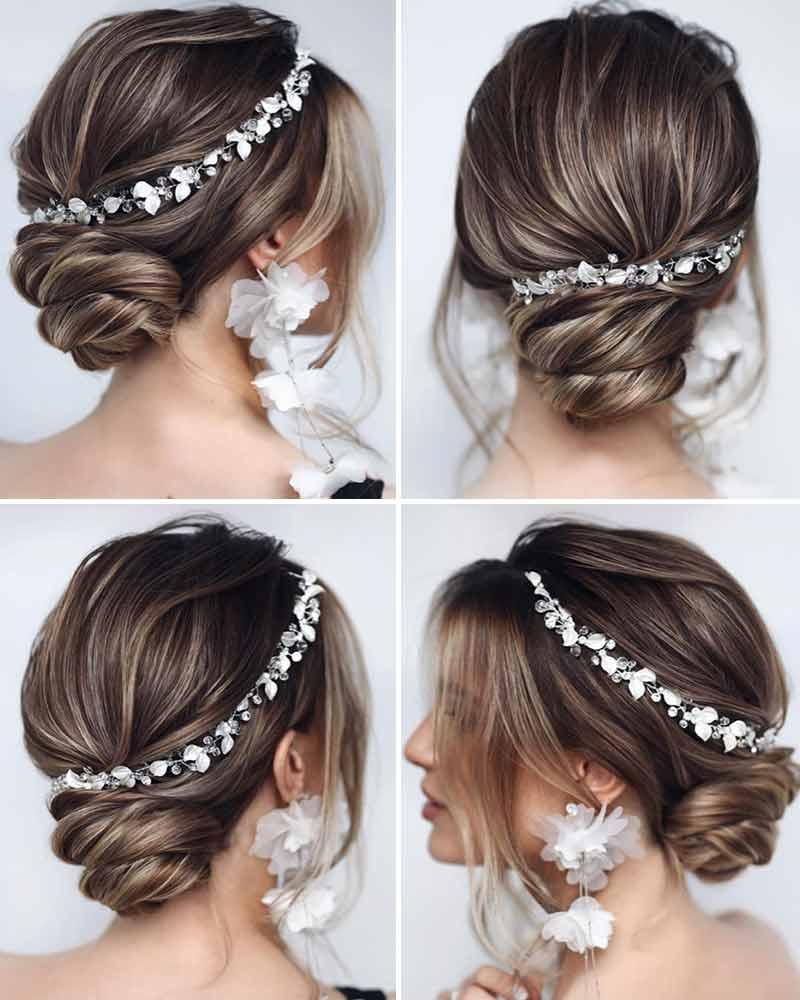 Peinados de novia cosechados