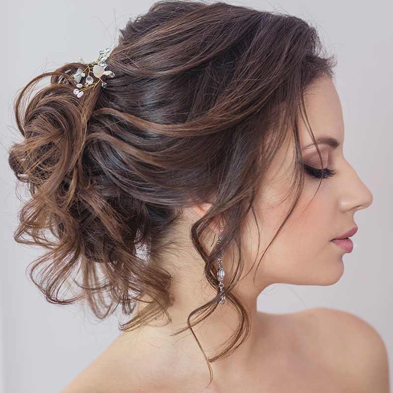 Peinado de novia de corte suave