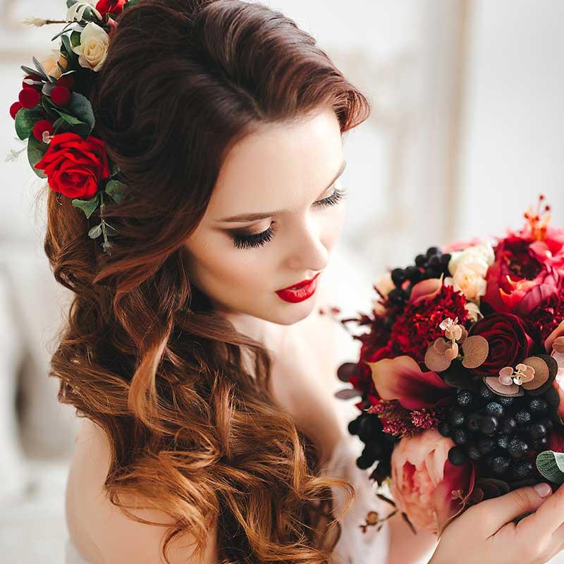 Flores para peinados de novia