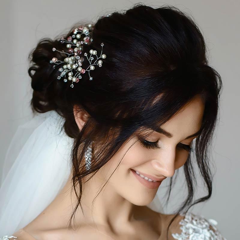 Peinados con velo de novia
