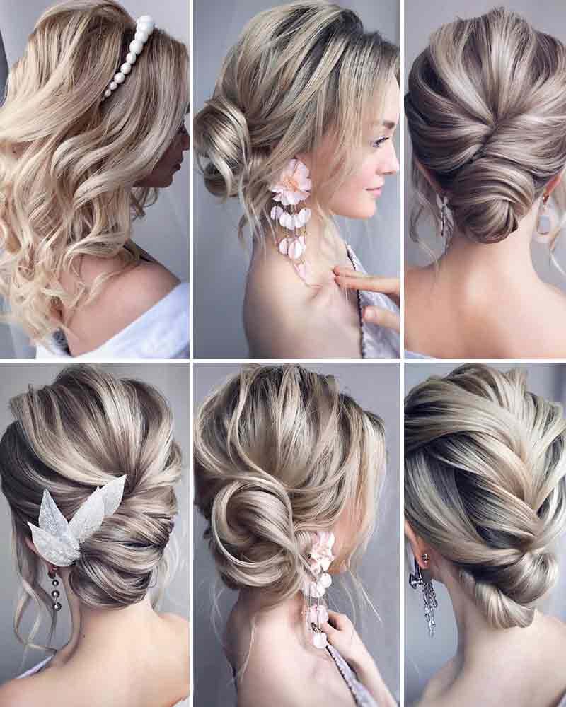 Peinados de novia pelo medio