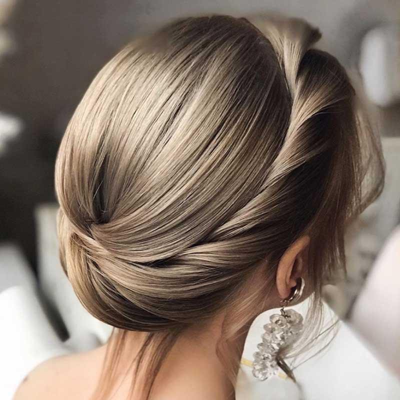 Peinados de novia pelo medio cultivo