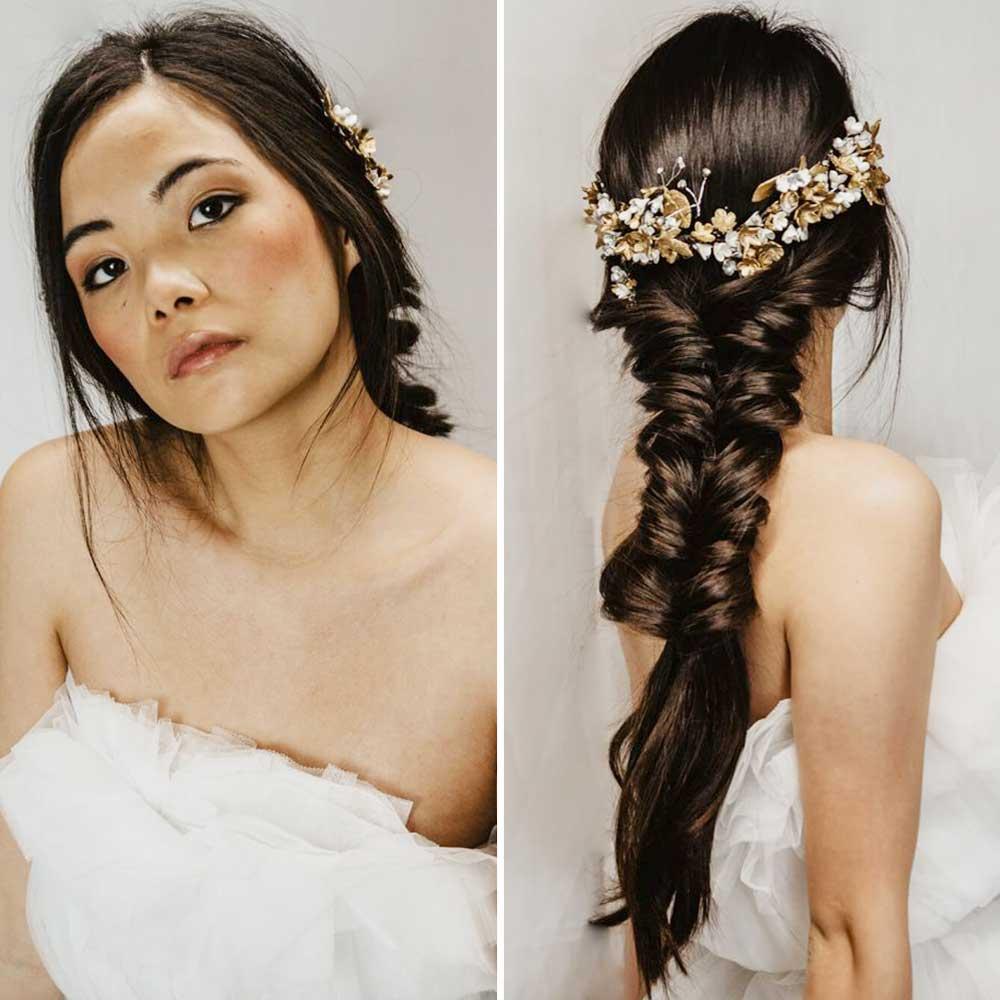 Peinados de novia 2021 trenzas