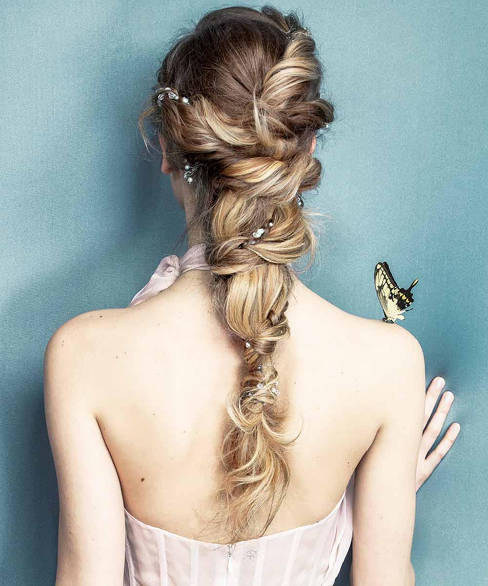 Peinados de novia semirecogidos