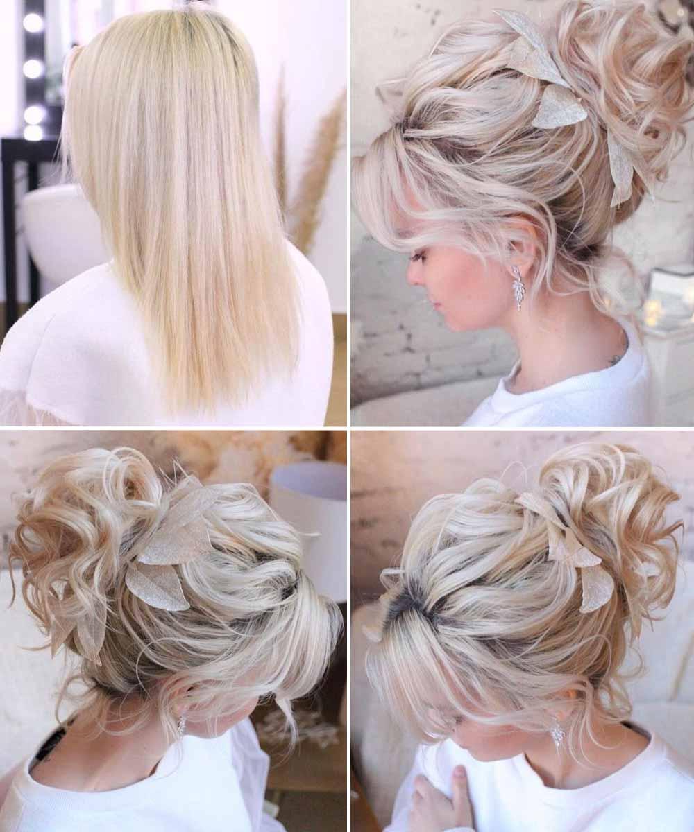Peinado de novia de media melena