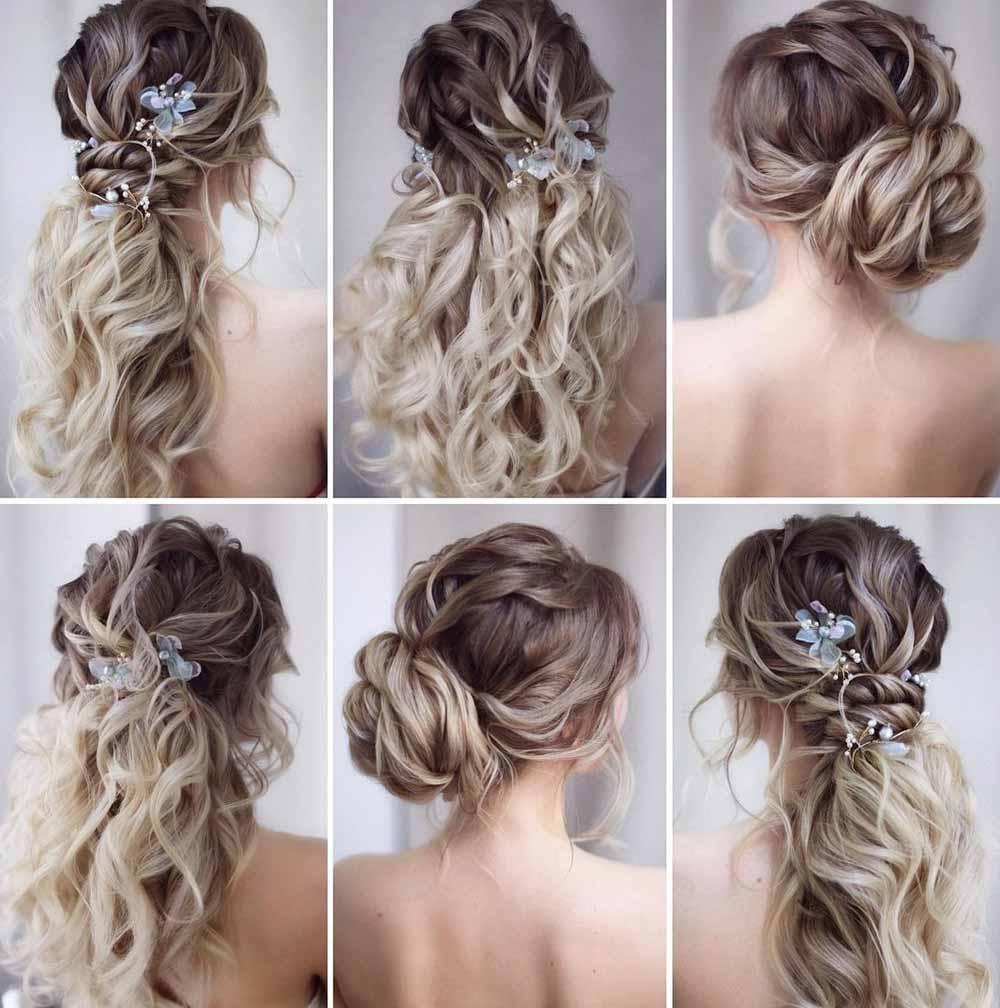 Peinados de novia pelo rizado