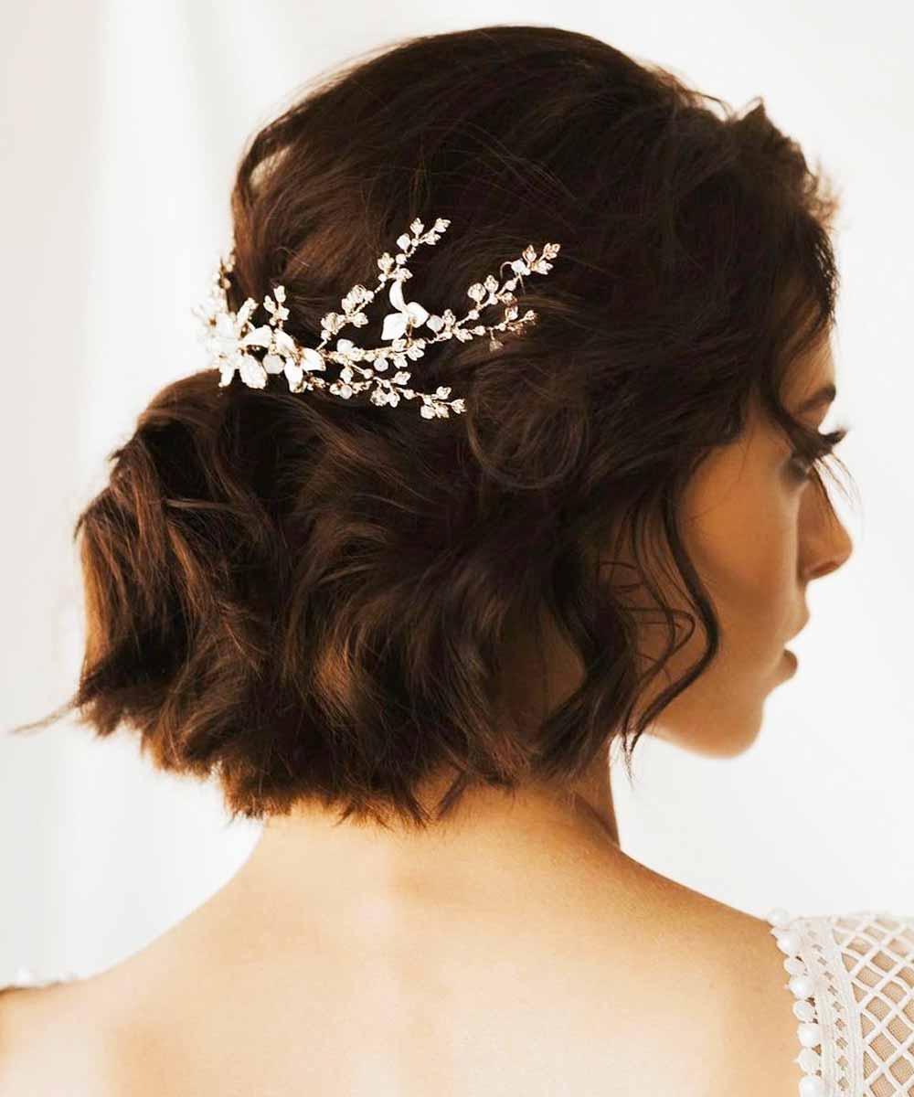 Peinados de novia medianos