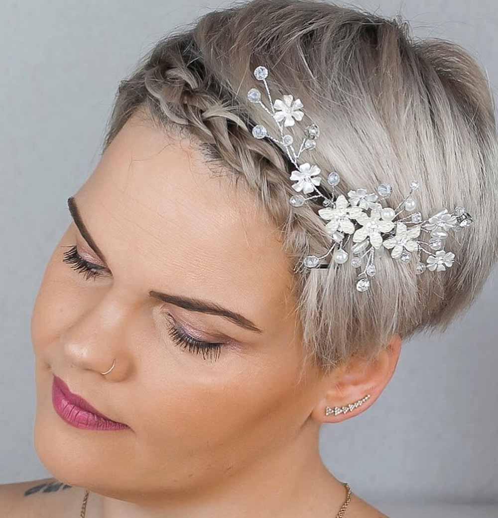 Peinados de novia pelo corto2021