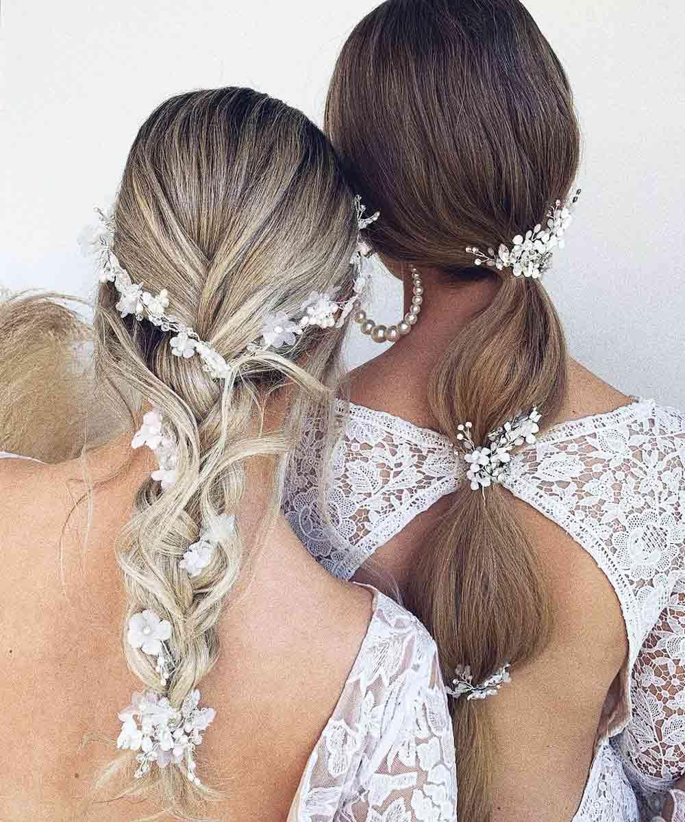 Peinados de pelo largo para novias