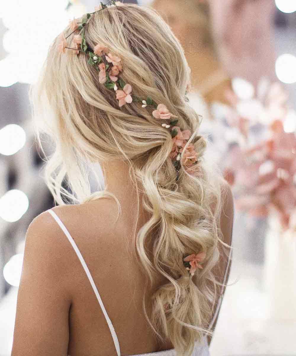 Semiraccolto flores novia