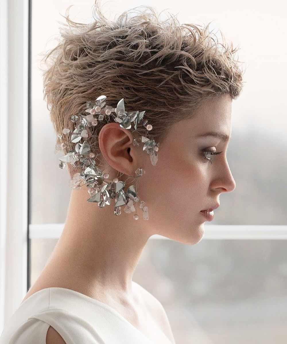 Peinados de pelo corto novia 2021