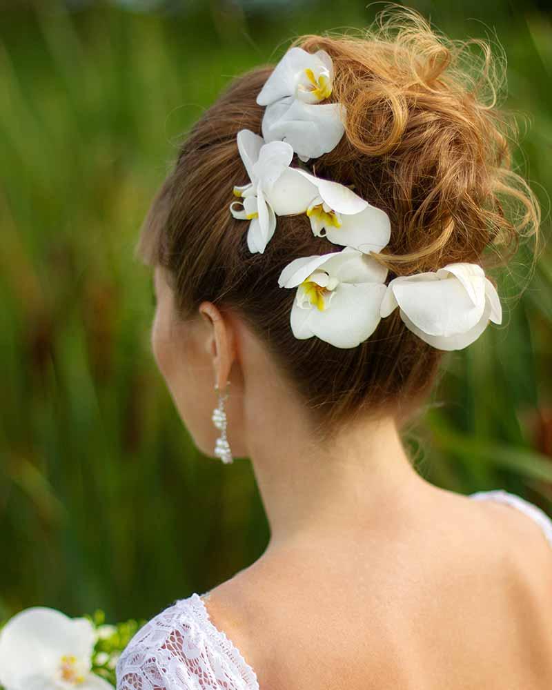 Orquídeas para peinados de novia