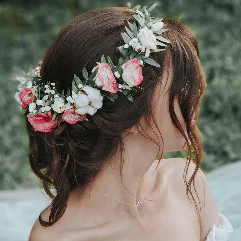 Peinados de novia coronas de flores