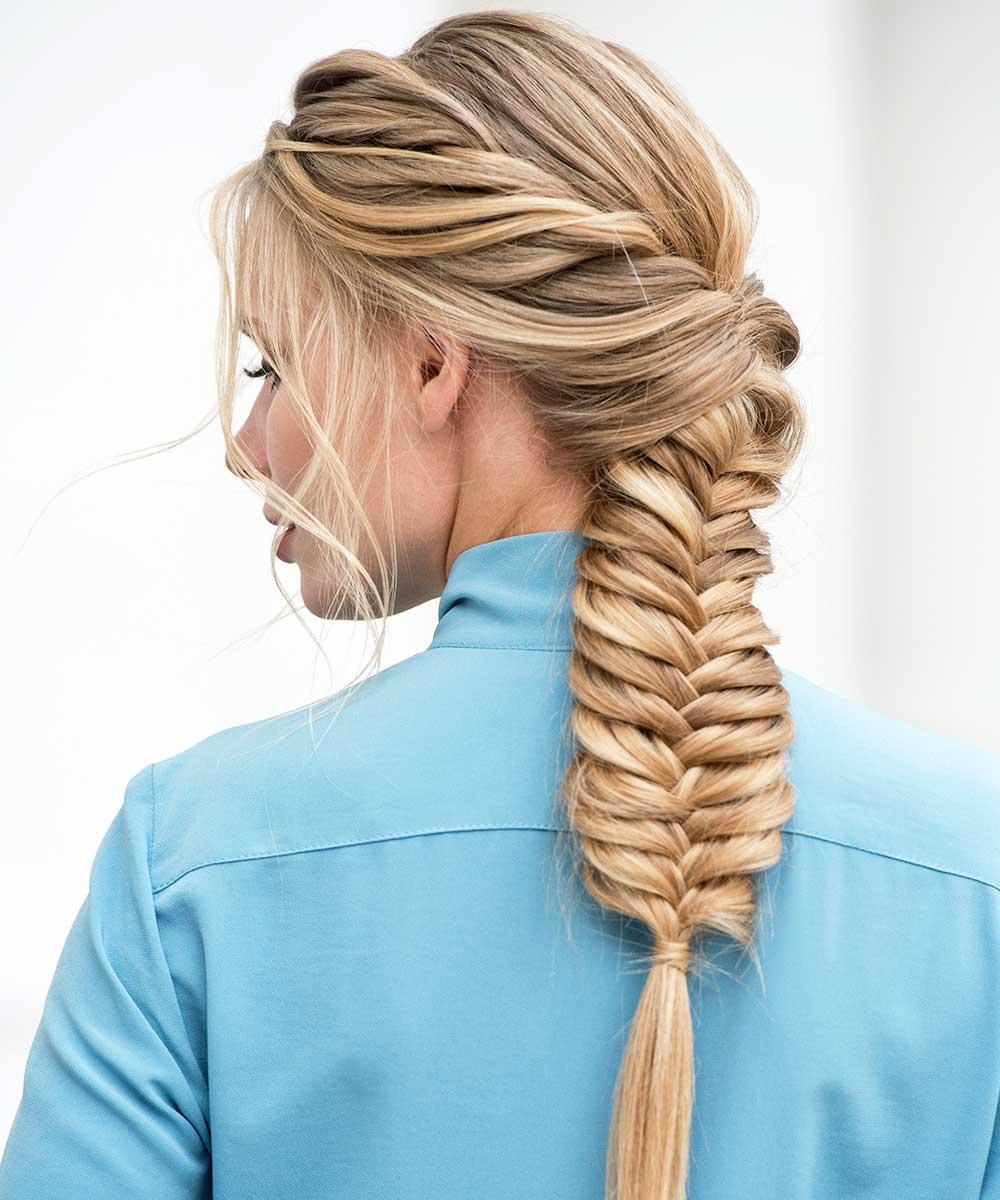 Peinados con trenzasde pelo largo