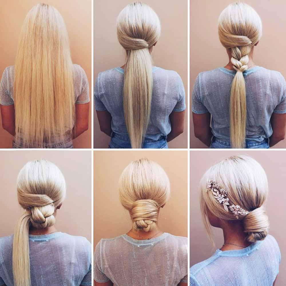 Tutorial moño trenza pelo largo