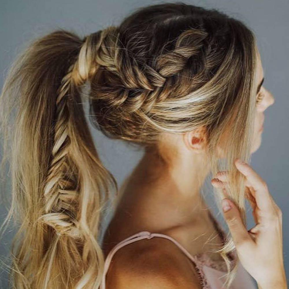 Peinados trenzas de cola