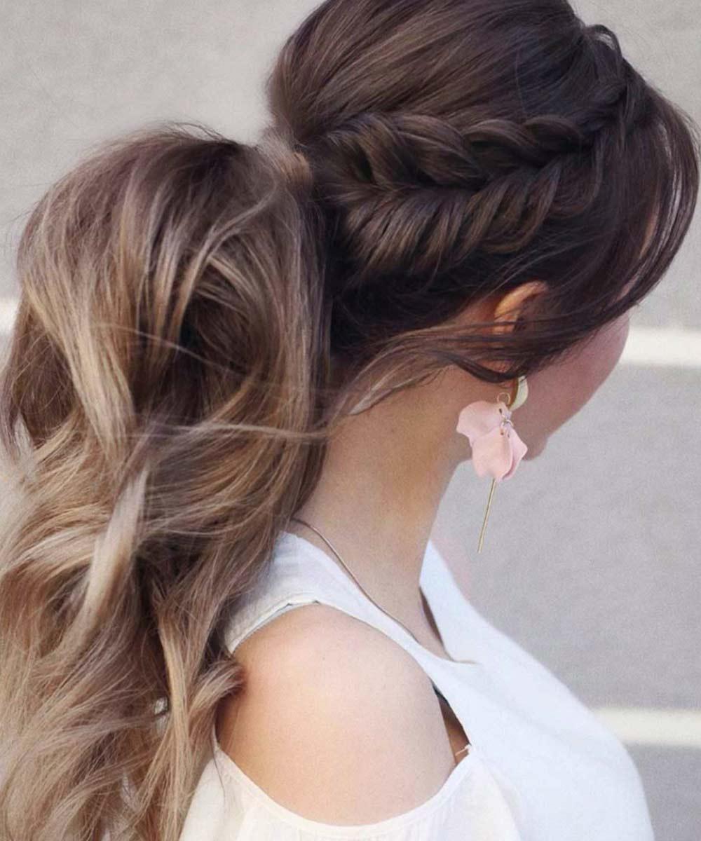 Peinado de cola de trenza