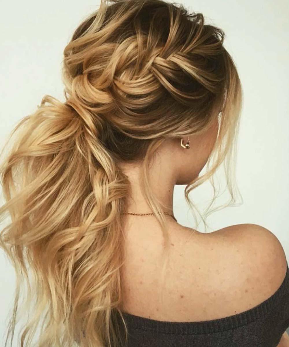 Peinados trenza de cola