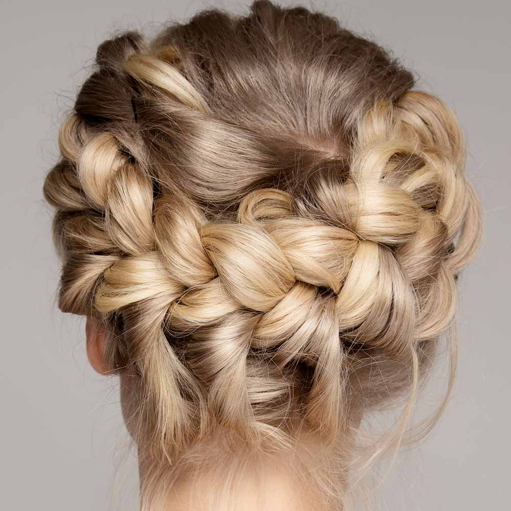 Peinados con trenzasrecogidas