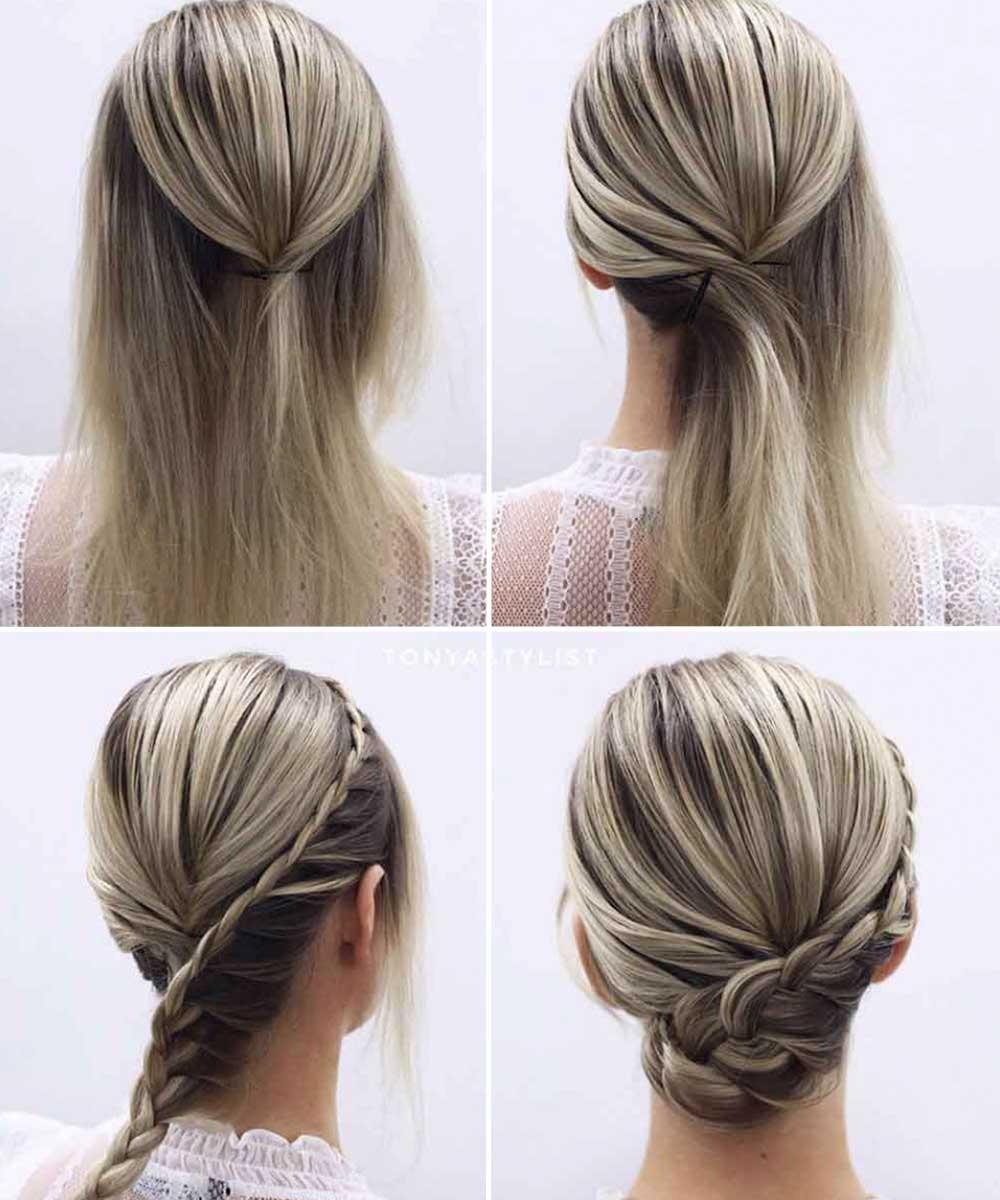 Peinados con trenzascapelli medi tutorial