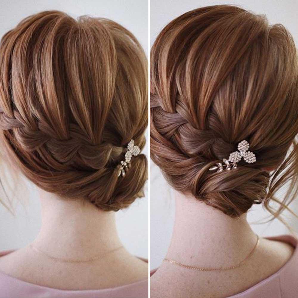 Peinados con trenzasde pelo corto