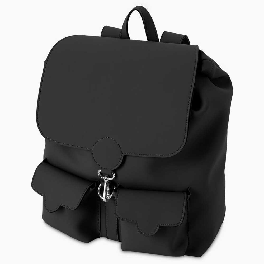 mochila grande de goma negra