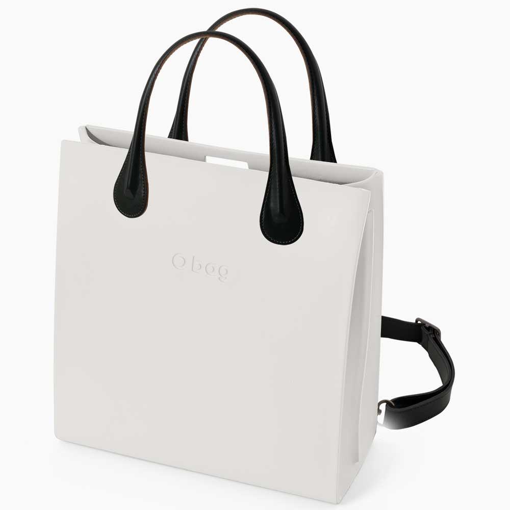 mochila blanca con correa para el hombro