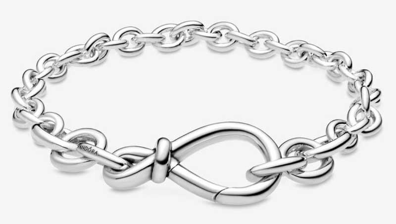 Pulsera de cadena de plata