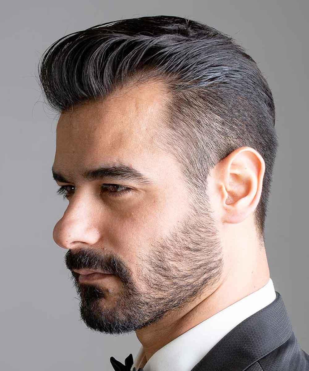 Hombre de pelo corto y borroso