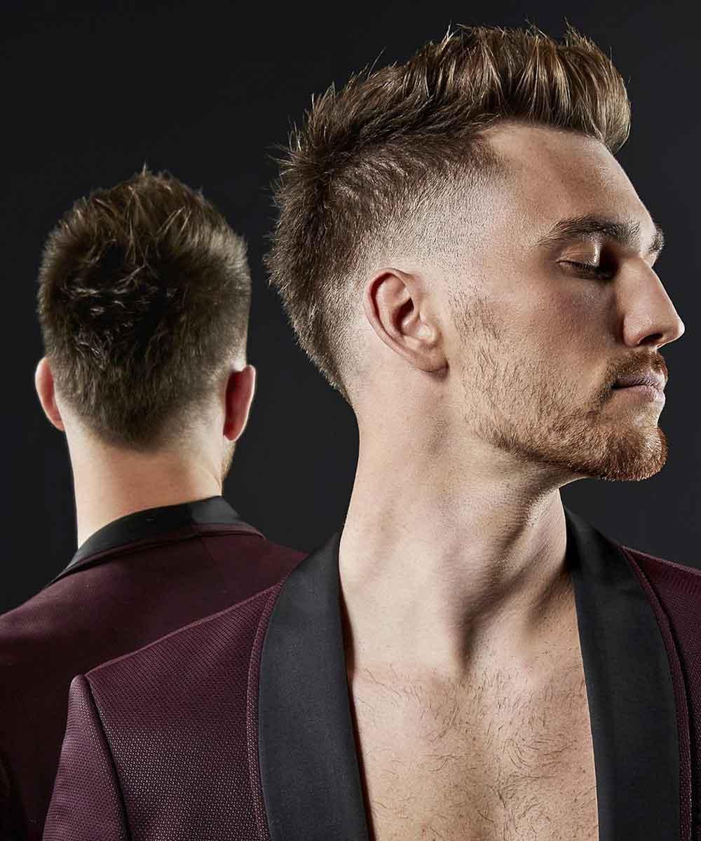 Los cortes de pelo de los hombres se difuminan