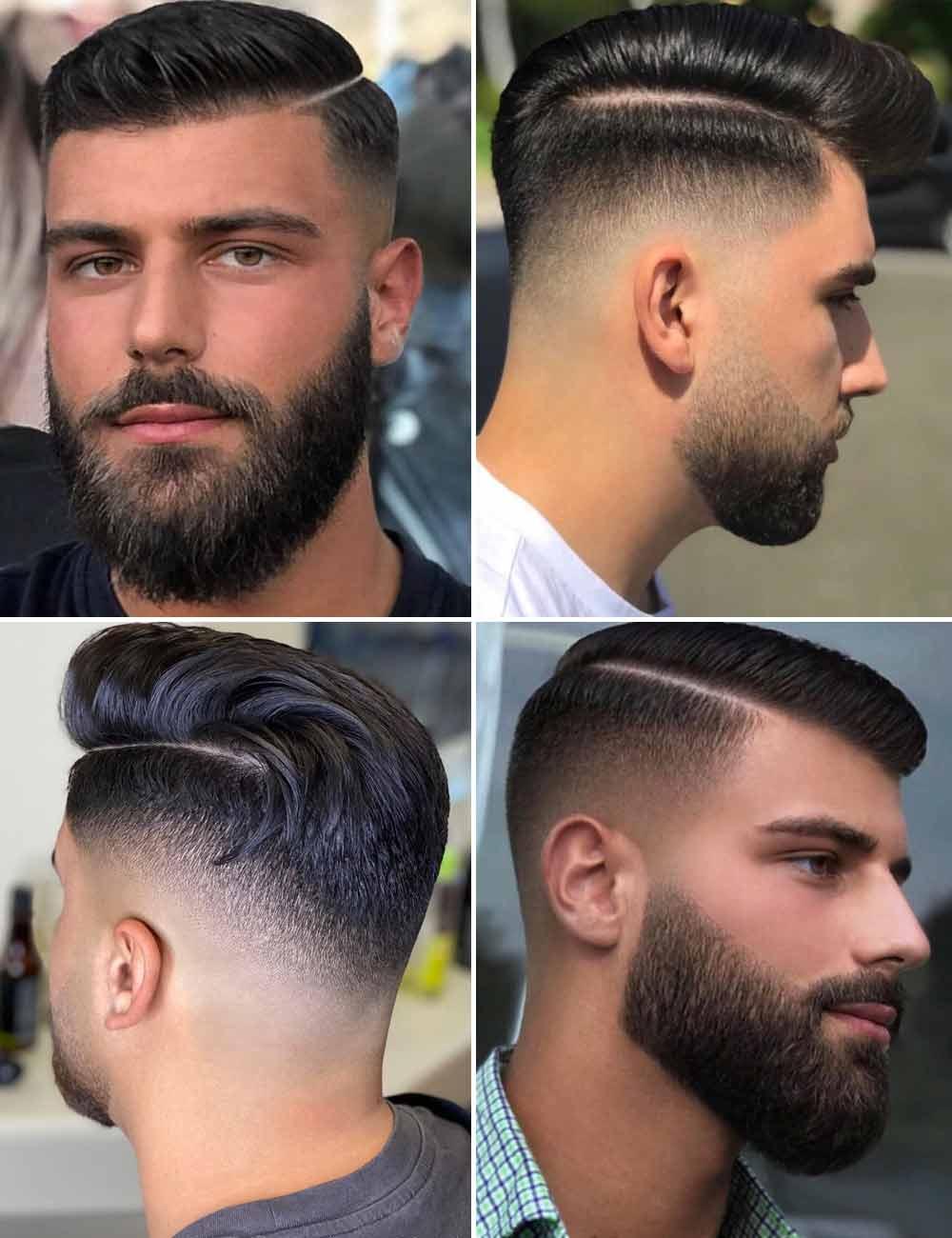 Cortes de pelo cortos con raya al lado para hombres