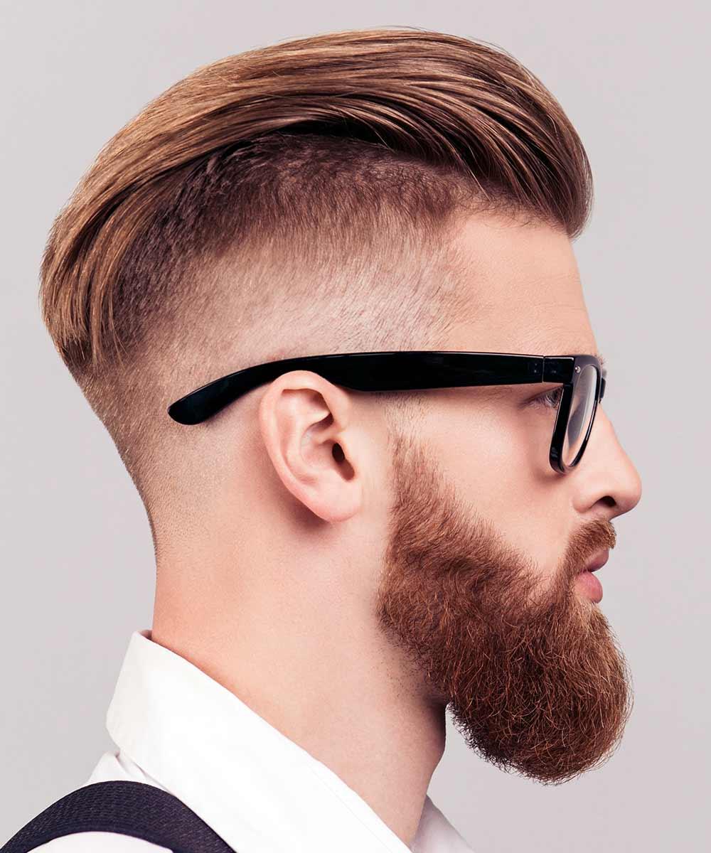 Hombre de pelo corto barba