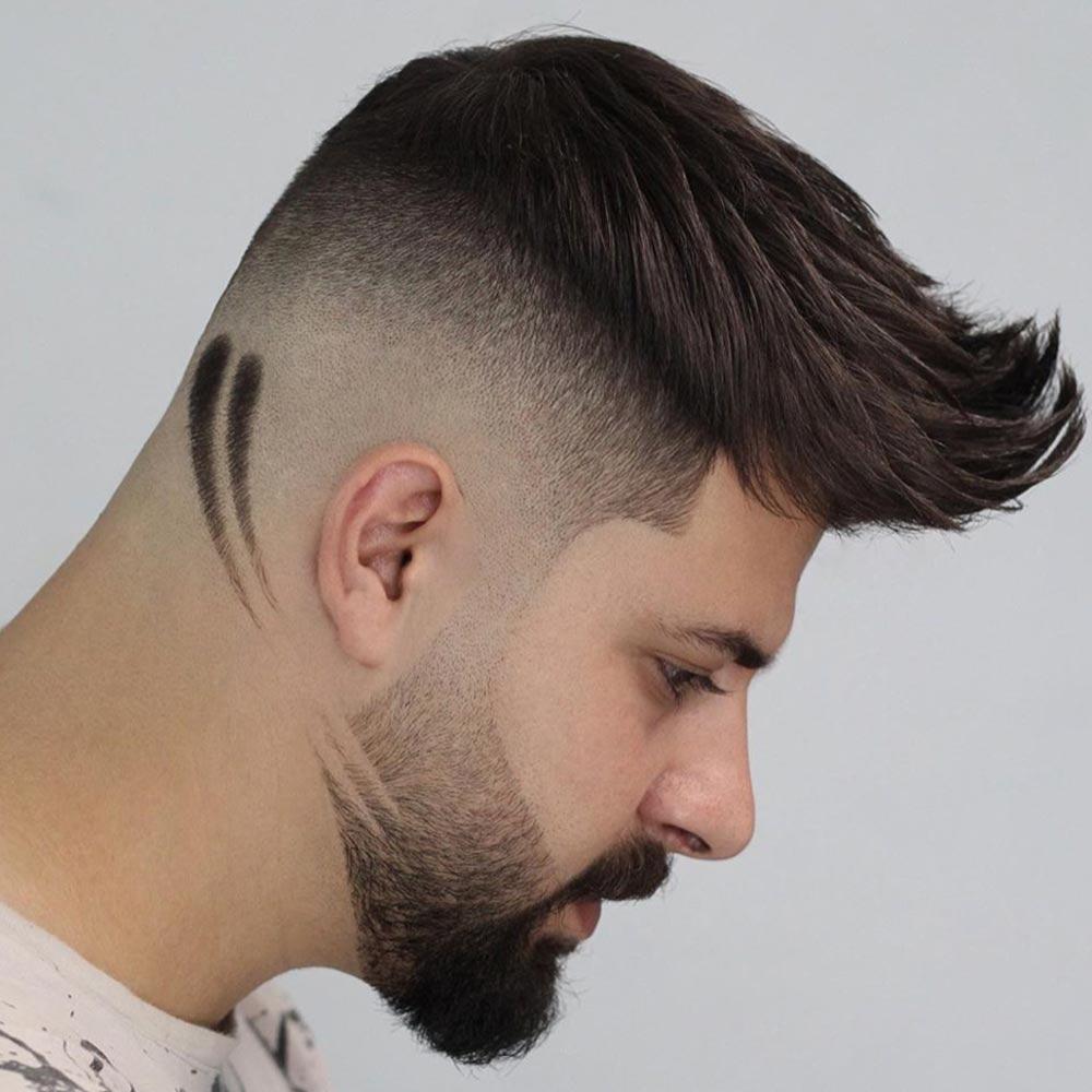 Corte de pelo corto barba de hombre