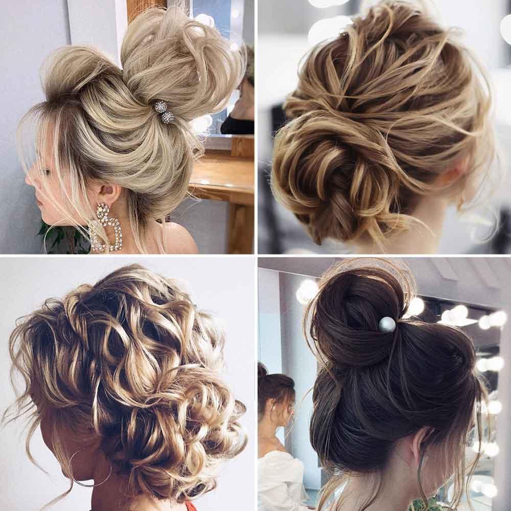 Peinado con moño suave