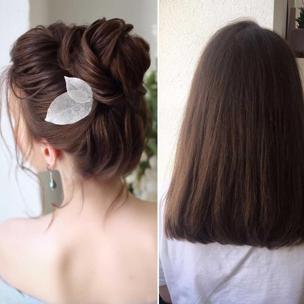 Moño fácil para cabello mediano