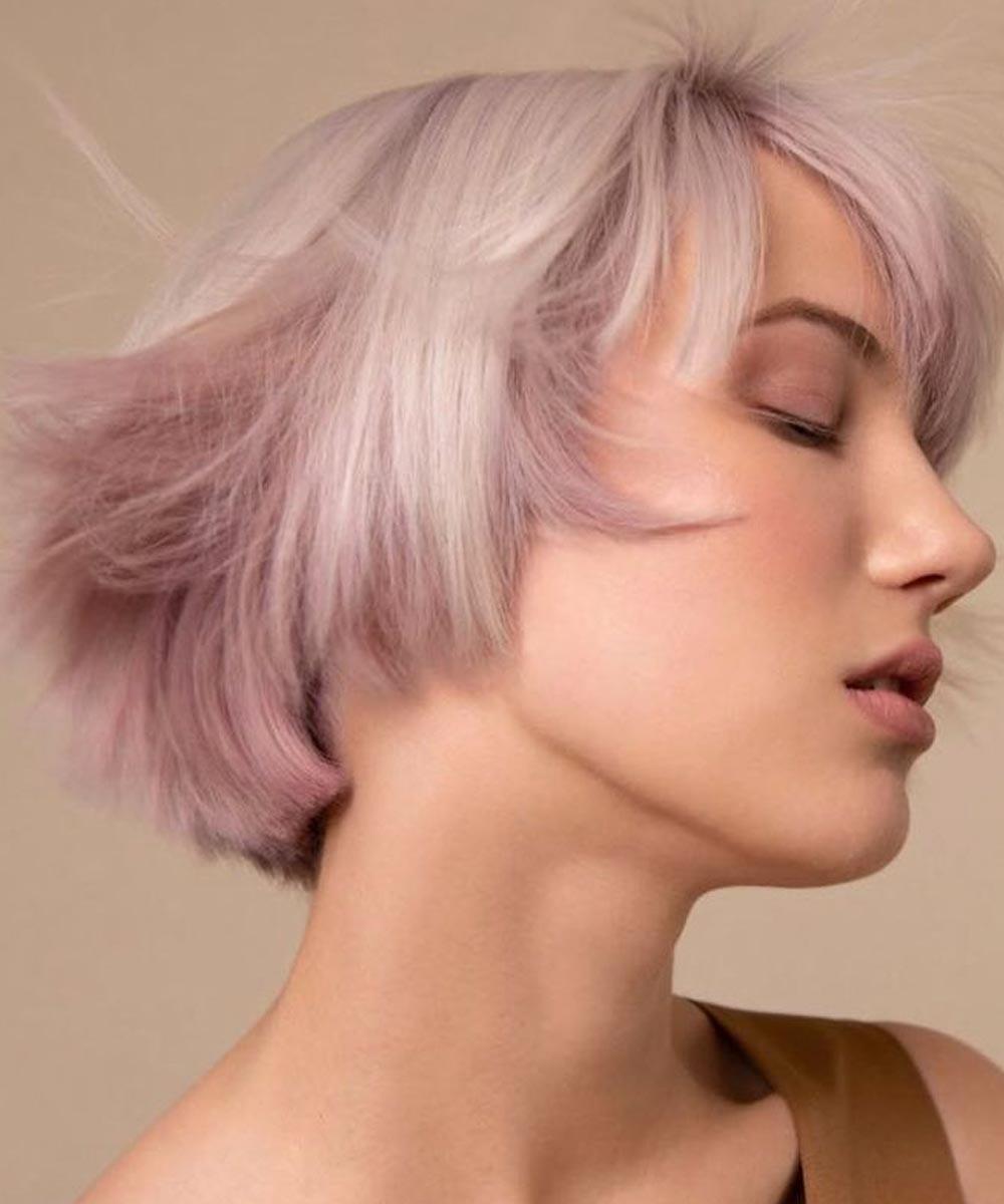 Color de pelo rosa rubio en bloque