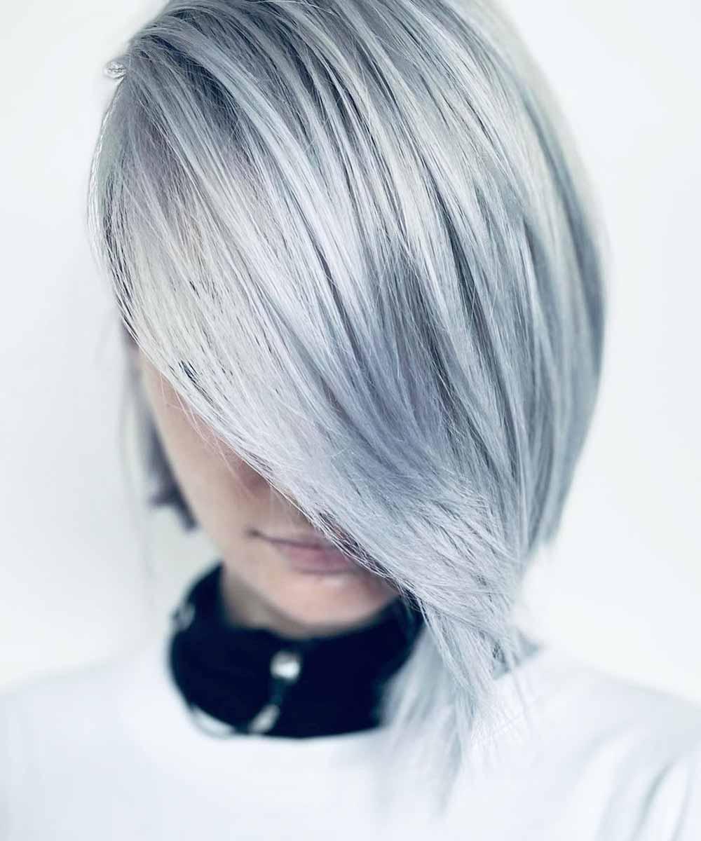 Pelo gris moda 2021