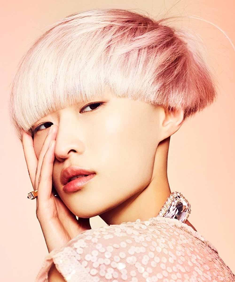 Color de pelo rosa