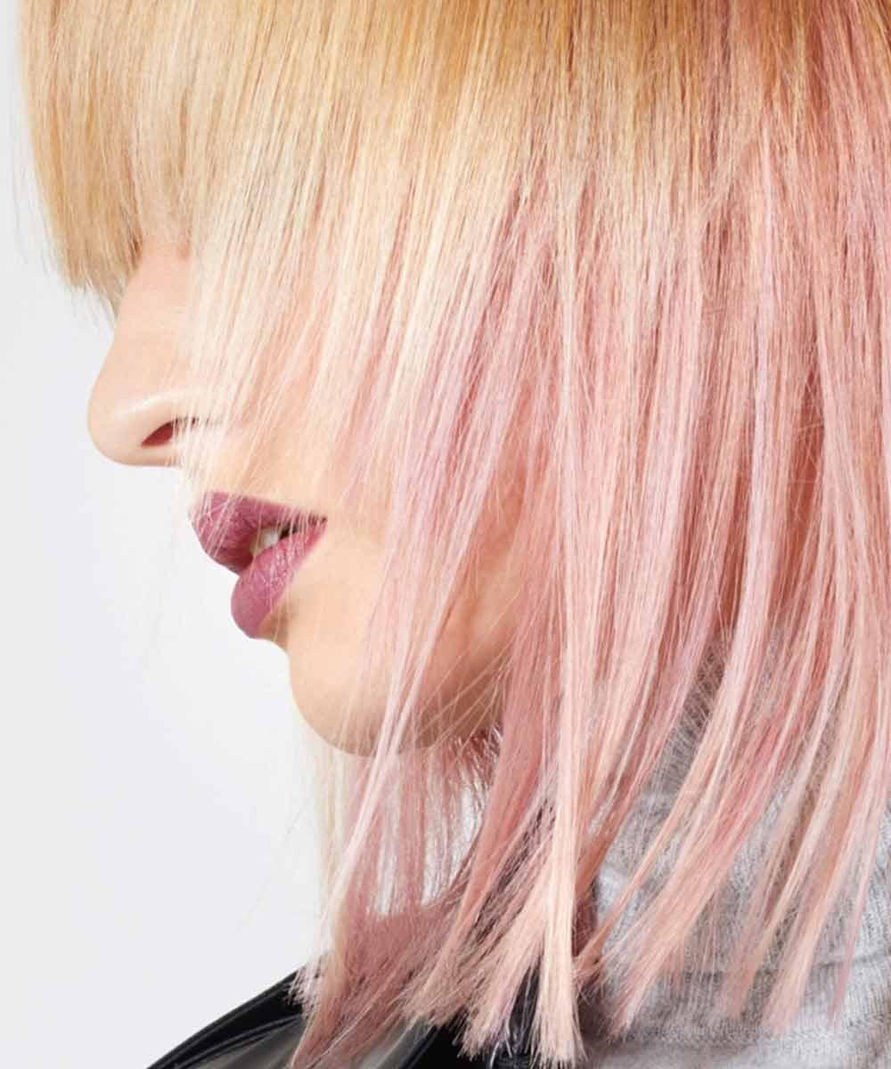 Color de pelo rubio rosa invierno 2021
