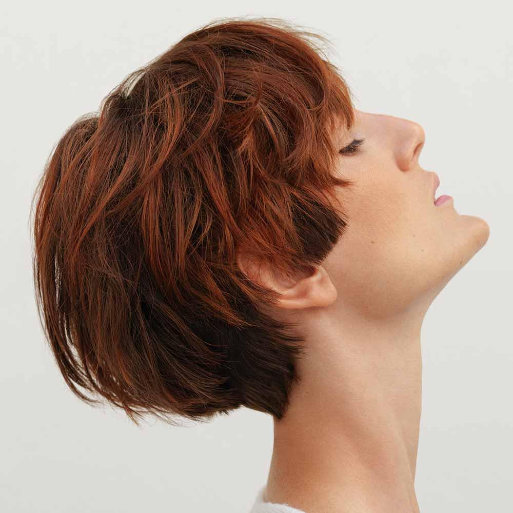 Color de pelo rojo marrón invierno 2020