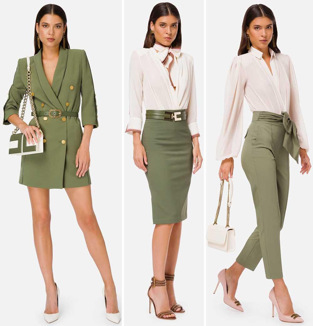 Prendas verdes militares de Elisabetta Franchi