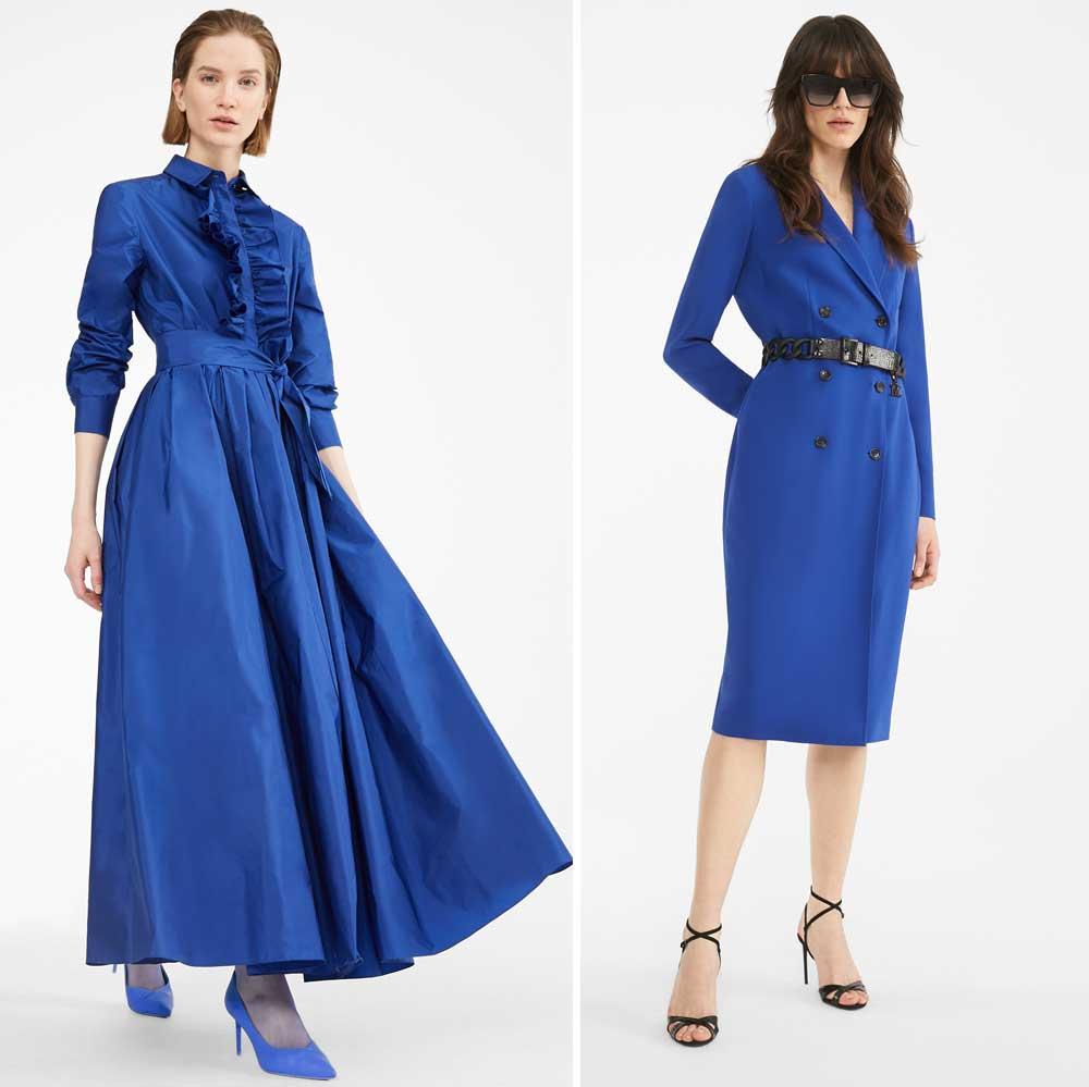 Vestidos azules de Max Mara