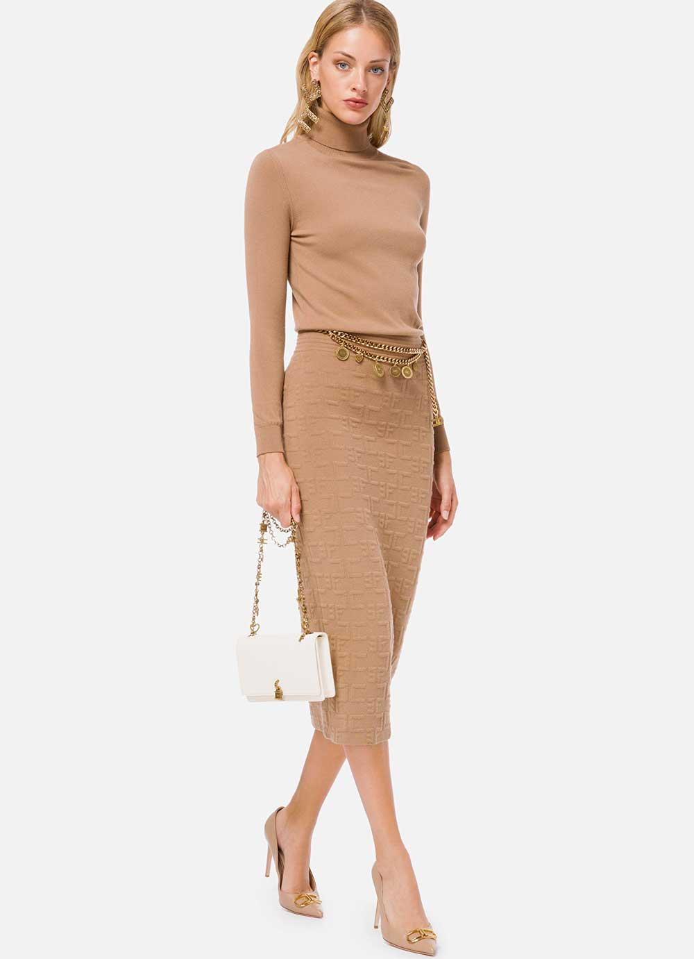 Vestido de camello de Elisabetta Franchi