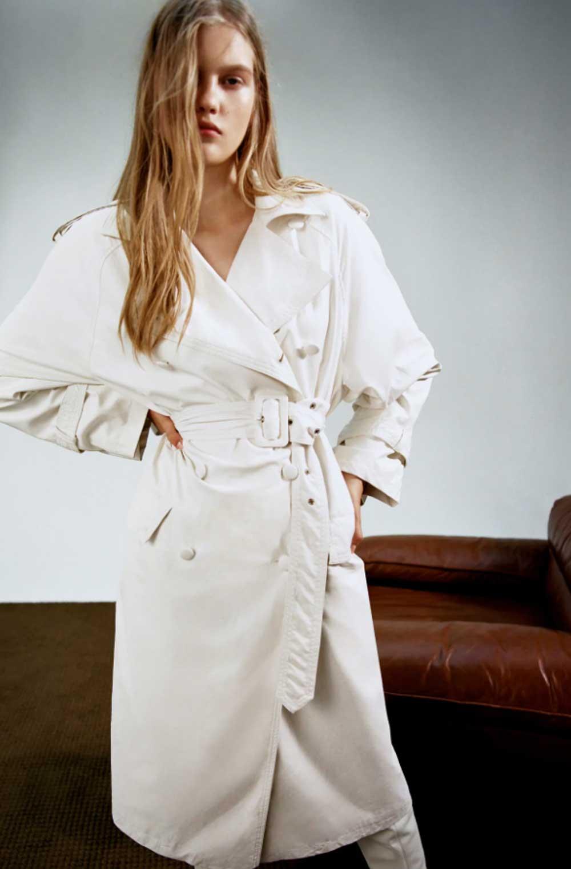 Zara gabardina blanca