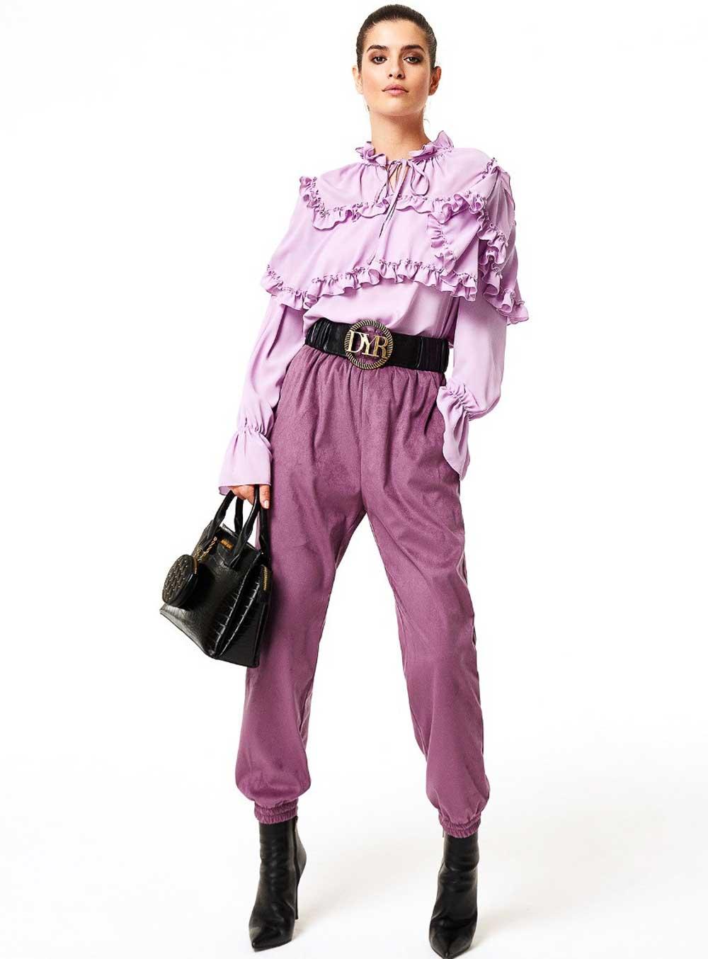 Pantalones morados Denny Rose