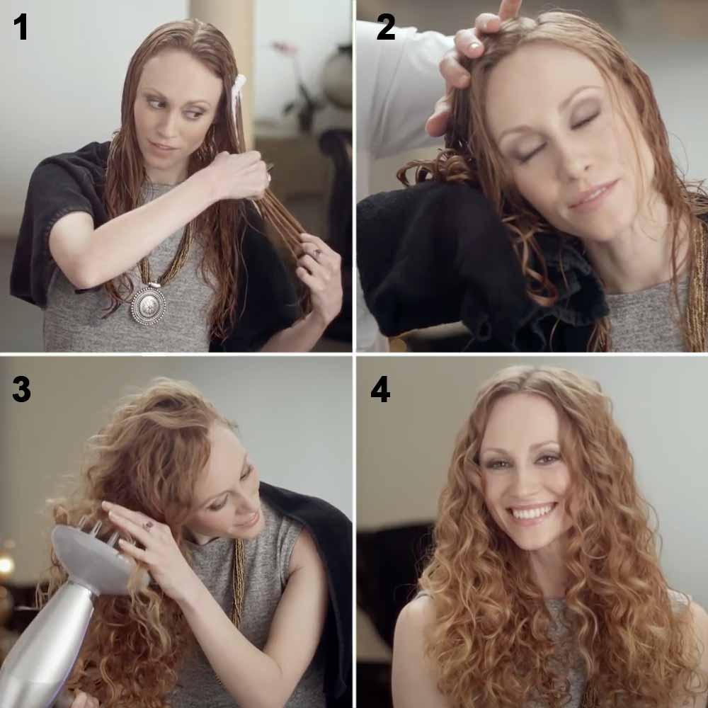 Cómo hacer el pelo rizado con espuma
