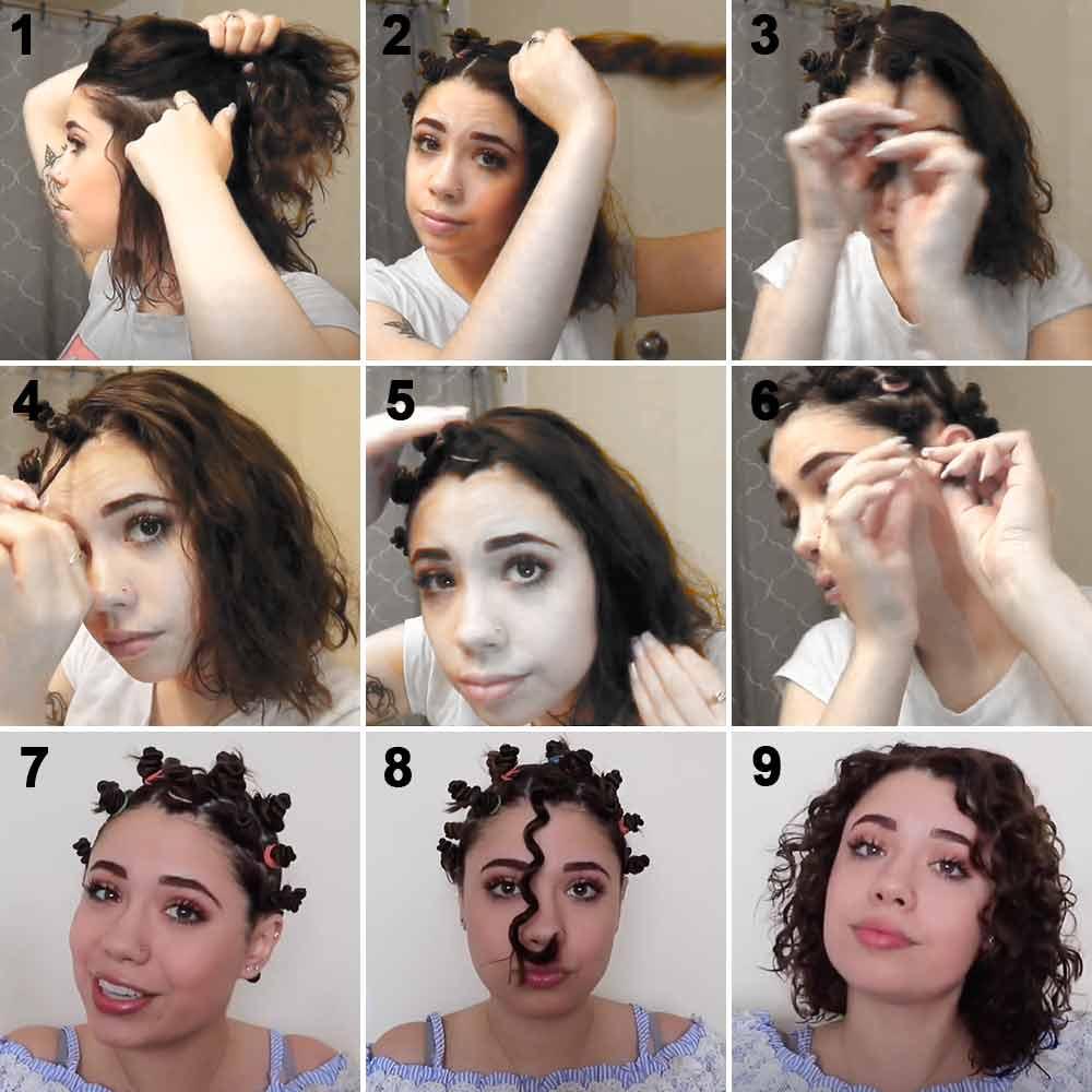 Cómo hacer el pelo corto y rizado con gomas elásticas