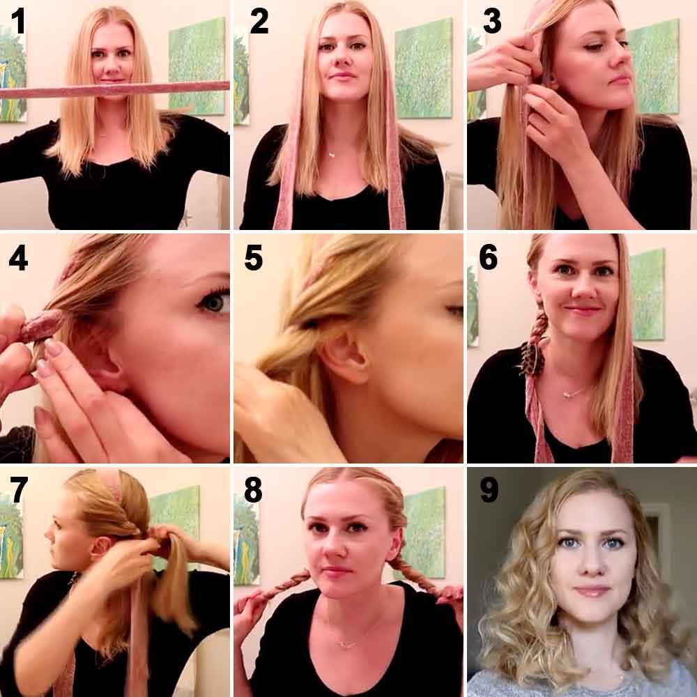 Cómo hacer el pelo rizado con tiras de tela