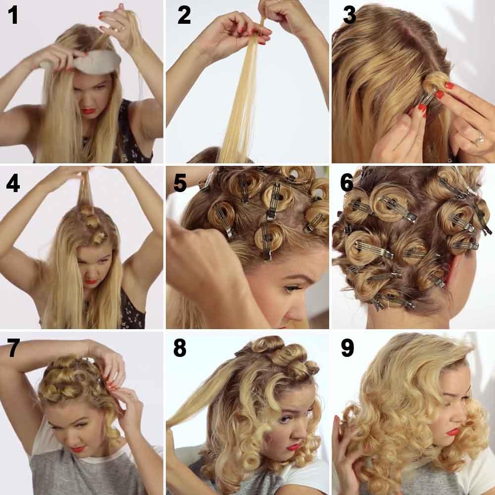 Riza el pelo con horquillas de pico de ganso
